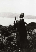 Morihei Ueshiba prays in Hawaii